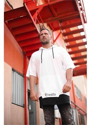 XHAN Siyah Kısa Kol Sweatsihrt 1Kxe8-44678-02 Beyaz